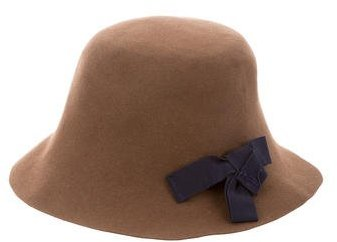 Marni Marni Bow-Accented Wool Cloche Hat