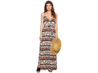 BB Dakota Agnes Artisan Wave Printed Poly Crepe Maxi Dress Women's Dress