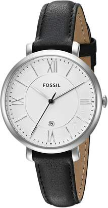Fossil Women's ES3972 Jacqueline Stainless Steel Watch with Leather Band