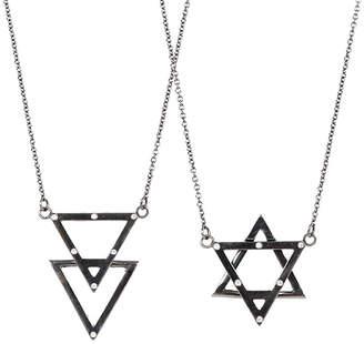 "Adornia Convertible Star of David Necklace with Diamonds ""No. 263"""