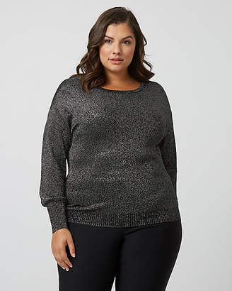 Le Château Shimmering Viscose Blend Drop Shoulder Sweater