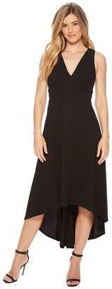 Calvin Klein Deep V High-Low Gown CD8B18JR Women's Dress