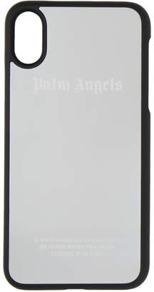 Palm Angels Silver Metallic Logo iPhone X Case