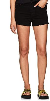 RE/DONE Women's High Rise Denim Cutoff Shorts - Black