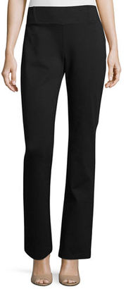 Eileen Fisher Heavyweight Slim Boot-Cut Pants $178 thestylecure.com