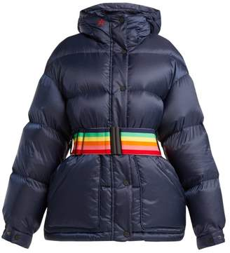 Perfect Moment - Oversized Quilted Down Jacket - Womens - Navy Multi