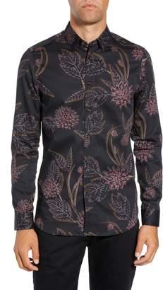 Ted Baker Notting Slim Fit Floral Sport Shirt