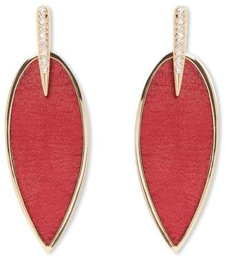 Vince Camuto Inlaid Leather Stone Statement Earrings