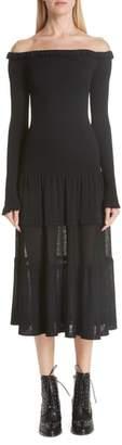 Altuzarra Vendaval Knit Off the Shoulder Dress