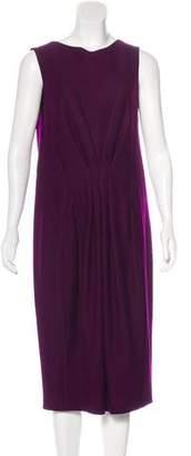 Donna Karan Pleated Shift Dress