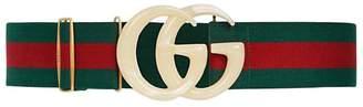 Gucci Elastic Belt W/ Gg Logo Buckle