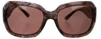 Chanel CC Lace Sunglasses