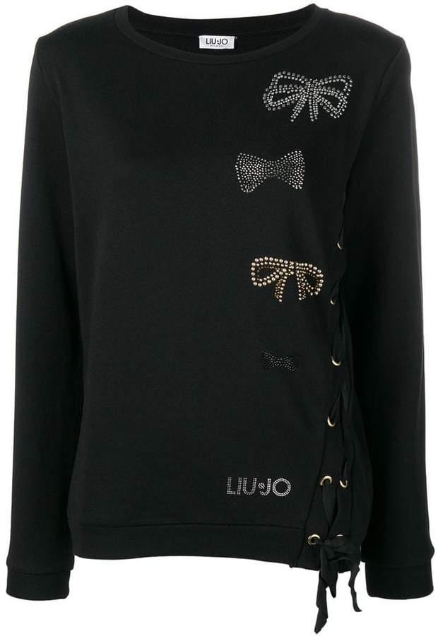 bow embellishments sweater