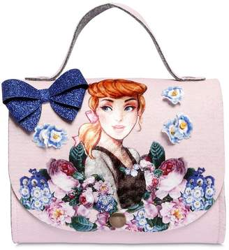 MonnaLisa Cinderella Patch Felt Bag