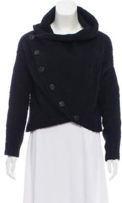 Yigal Azrouel Asymmetrical Merino Wool Cardigan