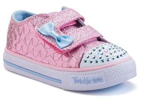 Skechers Twinkle Toes Shuffles Starlight Style Toddler Girls' Light-Up Sneakers $44.99 thestylecure.com