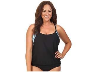Athena Next by Native Mantra Double Up 2 Tankini Top Women's Swimwear