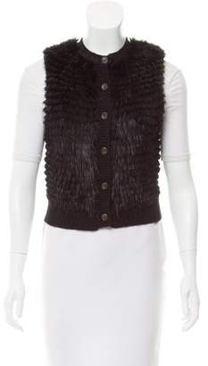 Pologeorgis Fur-Paneled Knit Vest