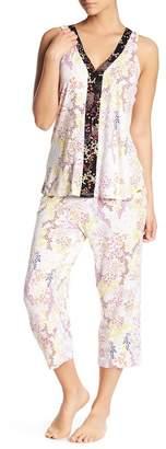 Tahari V-Neck & Capri Pajama 2-Piece Set