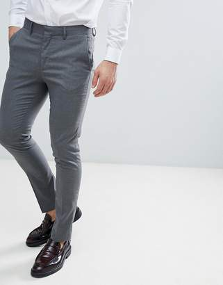 New Look Skinny Fit Smart Trousers In Grey