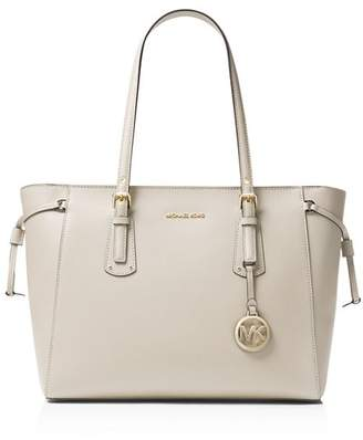 MICHAEL Michael Kors Voyager Medium Top Zip Leather Tote
