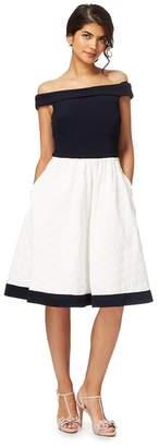 Debut Ivory 'Hepburn' Off The Shoulder Plus Size Prom Dress
