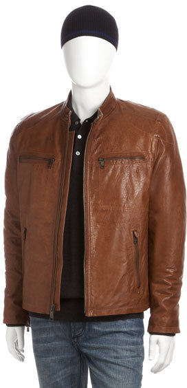 Marc New York by Andrew Marc Decoy Distressed Leather Jacket