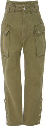Marissa Webb Belle Herringbone utility cotton pants