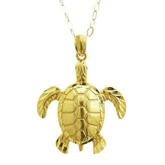 FINE JEWELRY Womens 10K Gold Animal Pendant Necklace