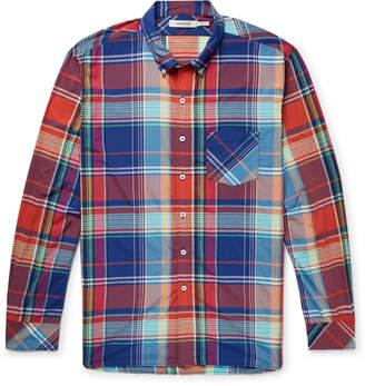 Nonnative Dweller Button-Down Collar Checked Woven Shirt
