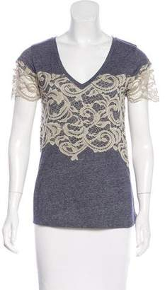 Hotel Particulier Lace-Accented Knit Top w/ Tags