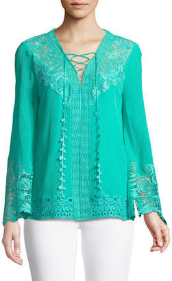4206ac5448912 Kobi Halperin Mimi Embroidered-Inset Blouse