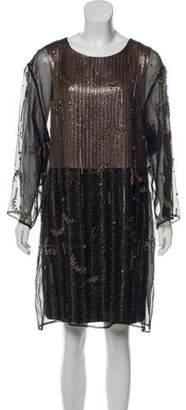 Dries Van Noten Embellished Knee-Length Dress