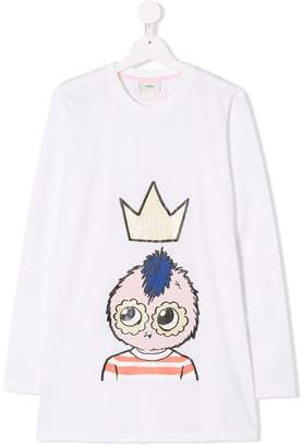 Fendi TEEN long-sleeve printed T-shirt