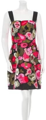 Oscar de la Renta Embroidered Sleeveless Dress w/ Tags