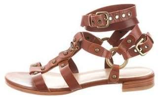 Stuart Weitzman Leather Multi-Strap Sandals