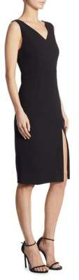 DKNY Slit V-Back Sheath Dress