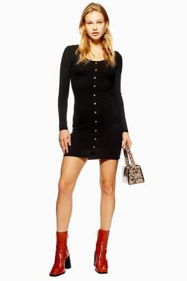 Topshop Plain Ribbed Mini Dress