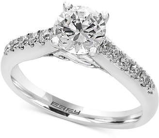 Effy Infinite Love Diamond Engagement Ring (1-1/4 ct. t.w.) in 18k White Gold