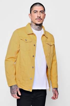boohoo Yellow Denim Trucker Jacket