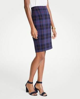Ann Taylor Mini Plaid Pencil Skirt