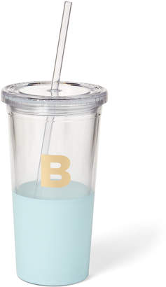 Kate Spade Light Blue Monogram Insulated Tumbler