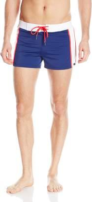 Sauvage Men's Sports Color Accent Swim Trunk