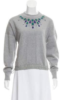 Sacai Luck Embellished Neck Sweatshirt