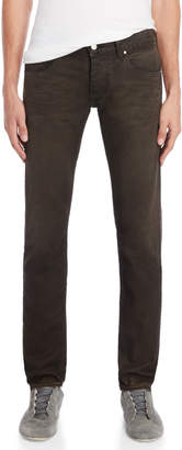 Armani Jeans Dark Brown Slim Fit Jeans