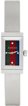 Gucci Silver G-Frame Slim Watch