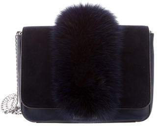 Loeffler Randall Fur-Trimmed Shoulder Bag