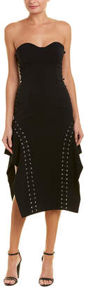 Jonathan Simkhai Lace-Up Asymmetric Sheath Dress
