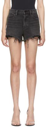 Alexander Wang Grey and Green Bite Clash Shorts