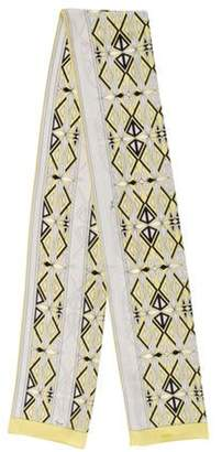 Emilio Pucci Printed Lightweight Scarf Lime Printed Lightweight Scarf